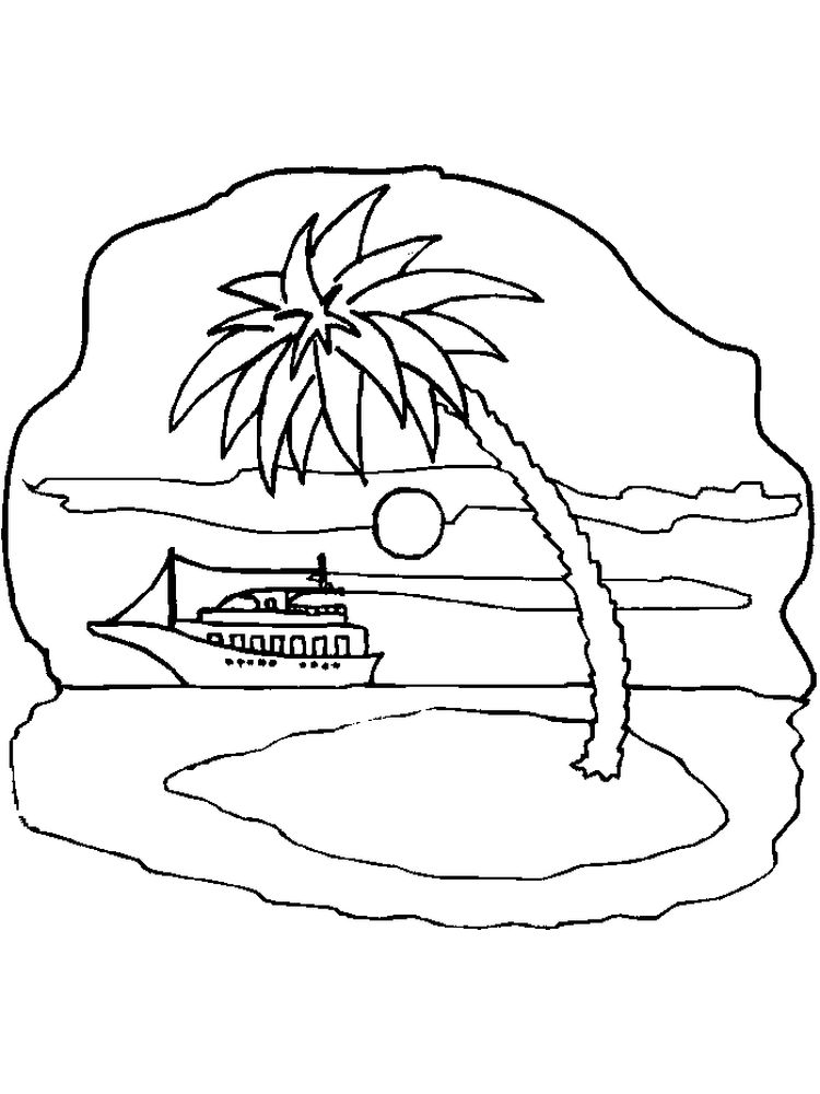 Printable Fantasy Island Coloring Pages