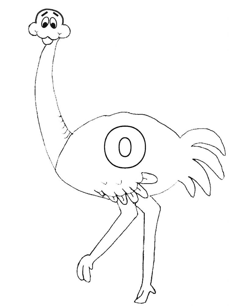 Printable Free Coloring Book Pages Ostrich