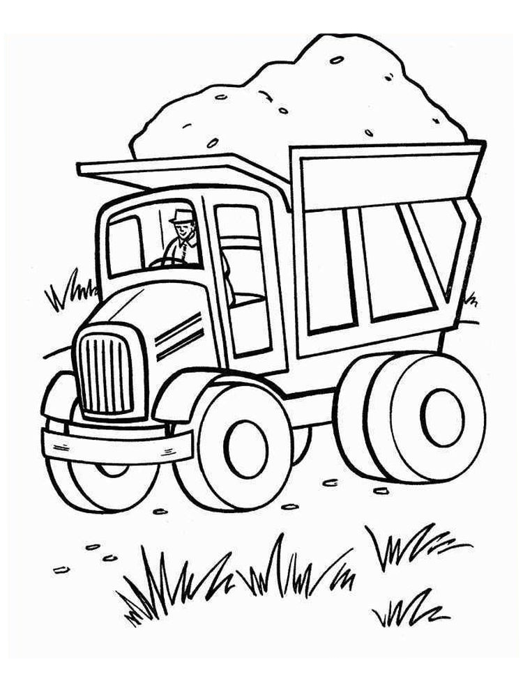 Printable Free Coloring Pages Of Dump Truck