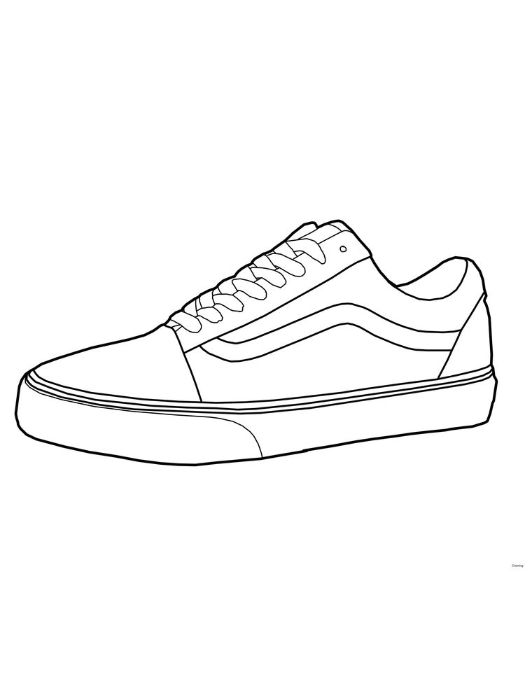 Printable Free Shoes Coloring Page Pdf