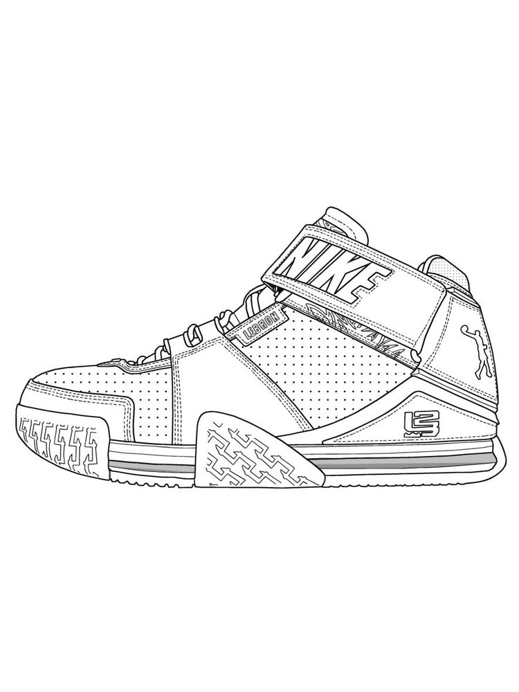 Printable Free Shoes Coloring Pages