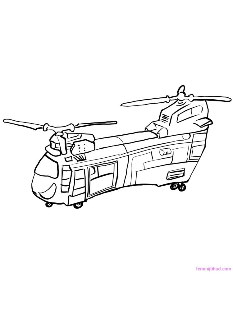 Printable Helicopter Coloring Pages For Preschoolers