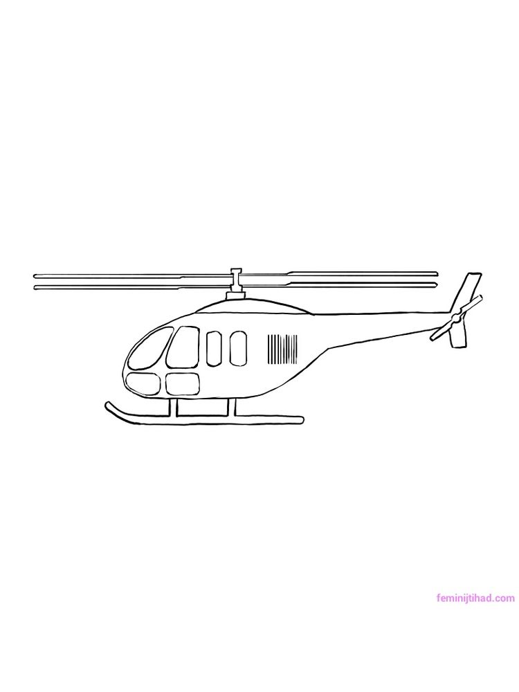 Printable Helicopter Coloring Pages Free