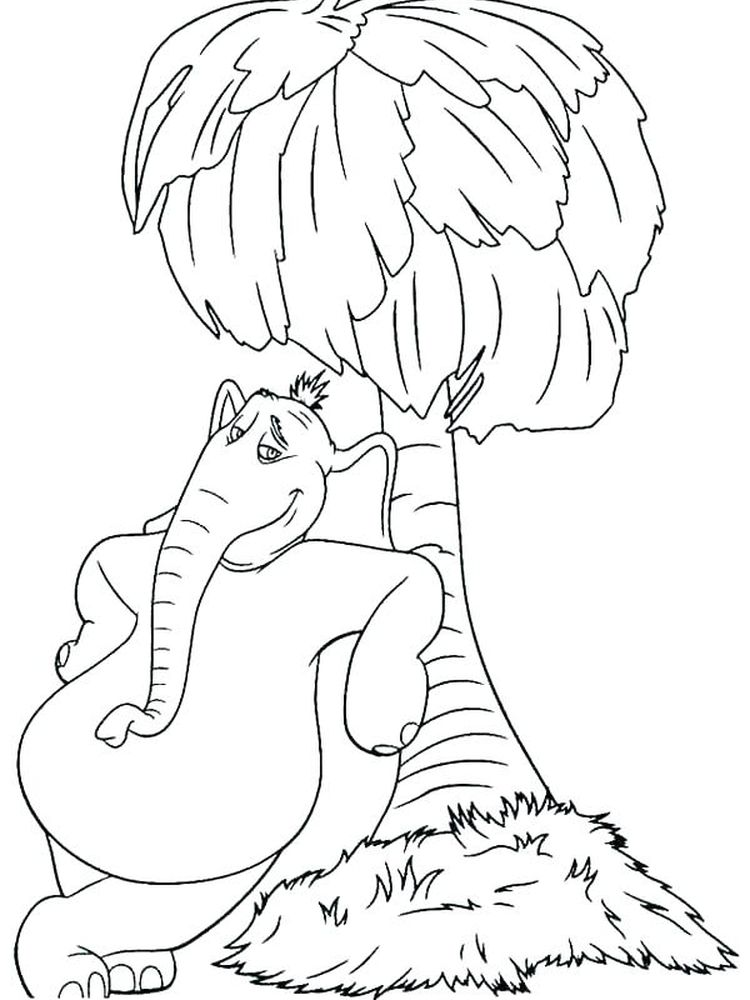 Printable Horton Hears A Who Colouring Pages