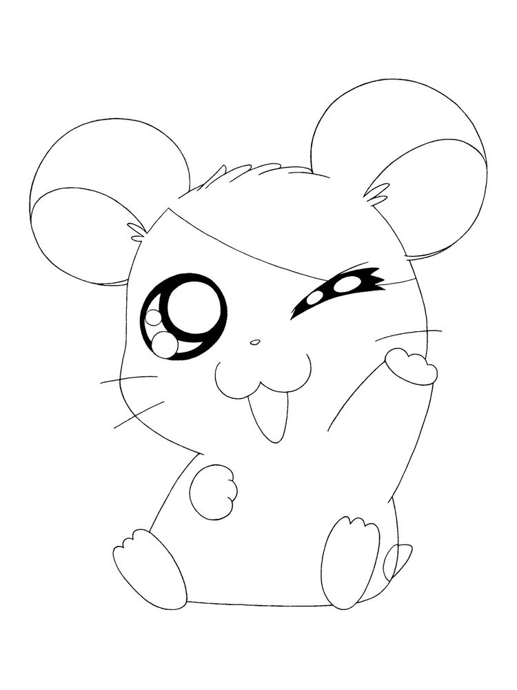 Printable Humphrey Hamster Coloring Pages