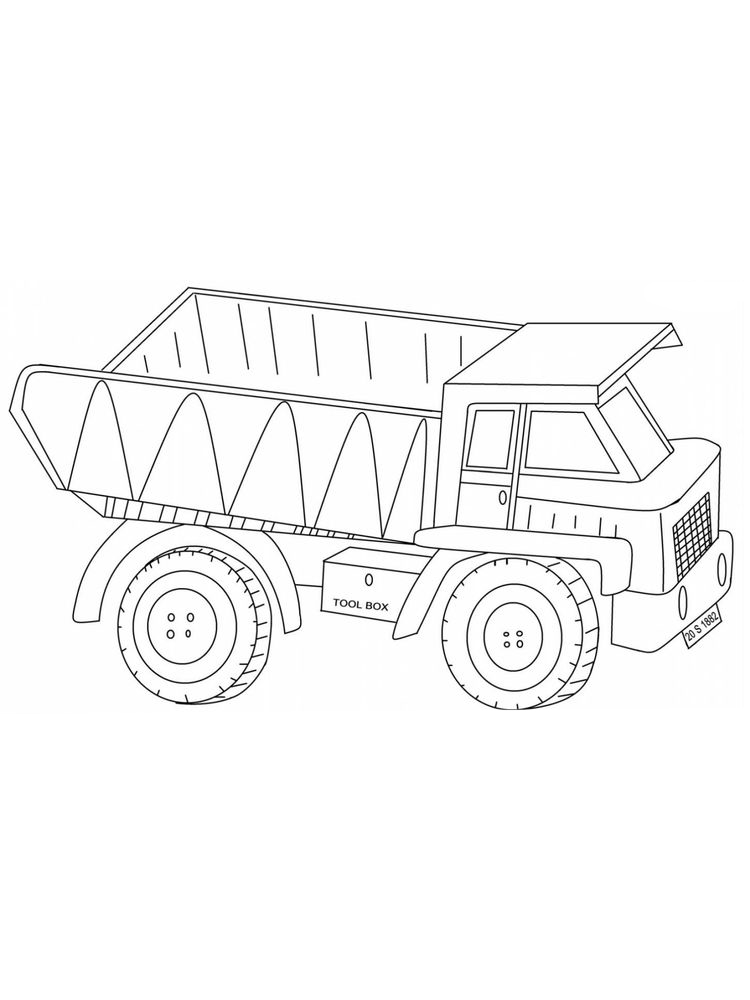 Printable Images Of Dump Truck Coloring Pages