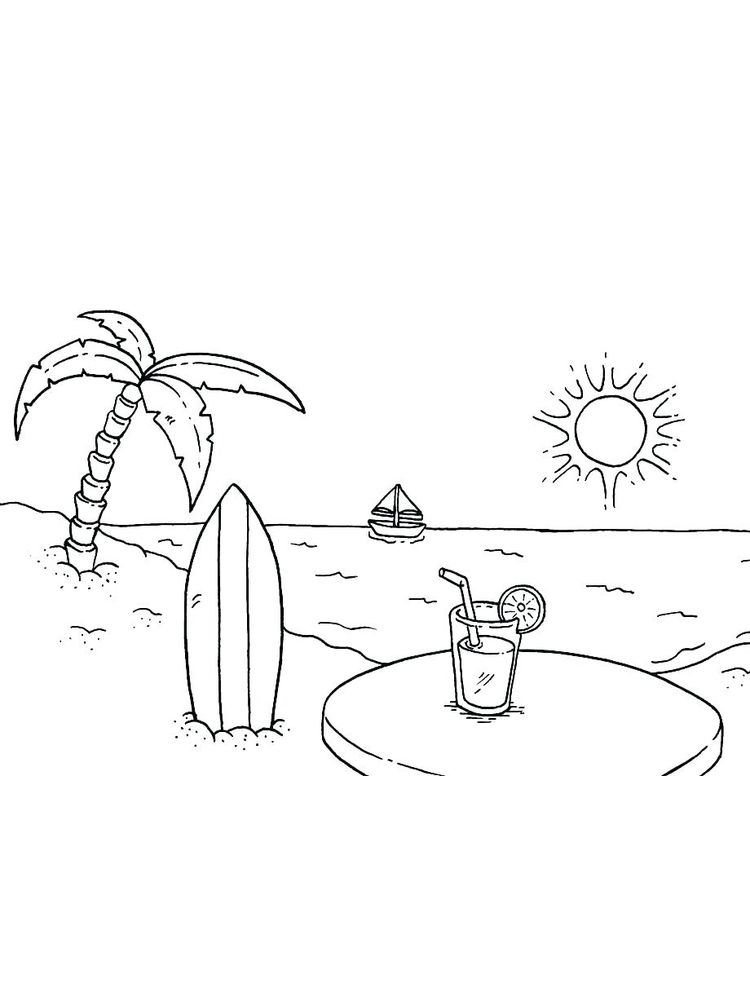 Printable Island To Coloring Pages Free