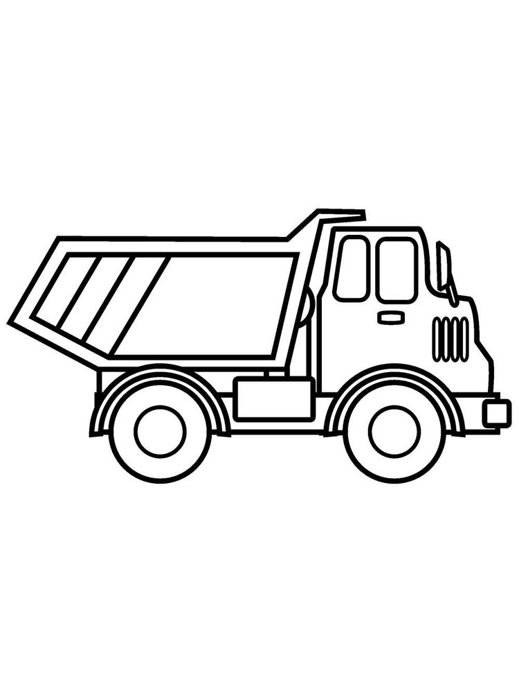 Printable Large Dump Truck Coloring Page