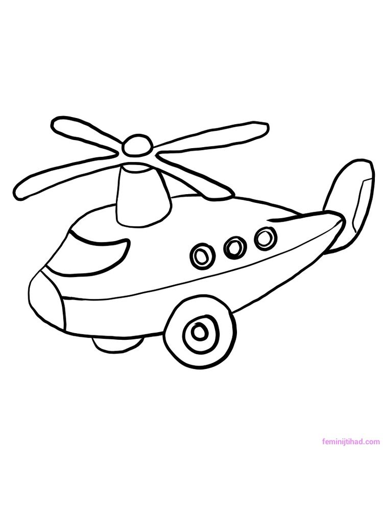 Printable Lego Helicopter Coloring Pages