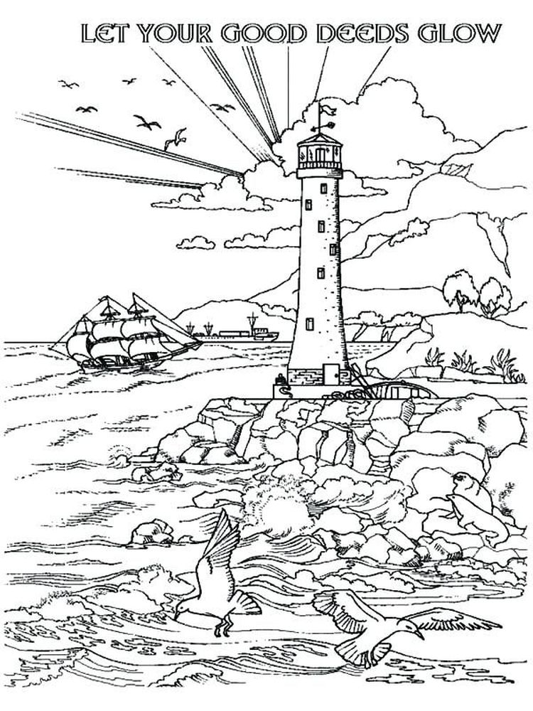 Printable Lighthouse Coloring Book Pages