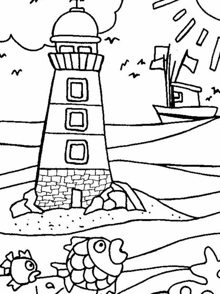 Printable Lighthouse Coloring Pages For Adults