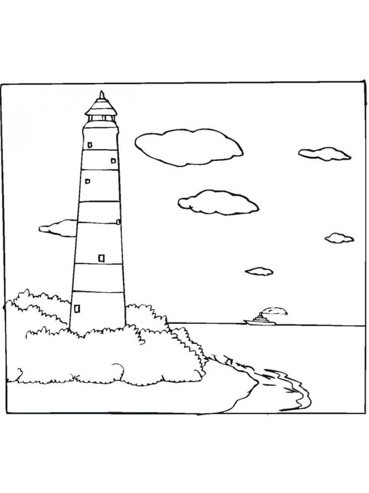 Printable Lighthouse Coloring Pages Free