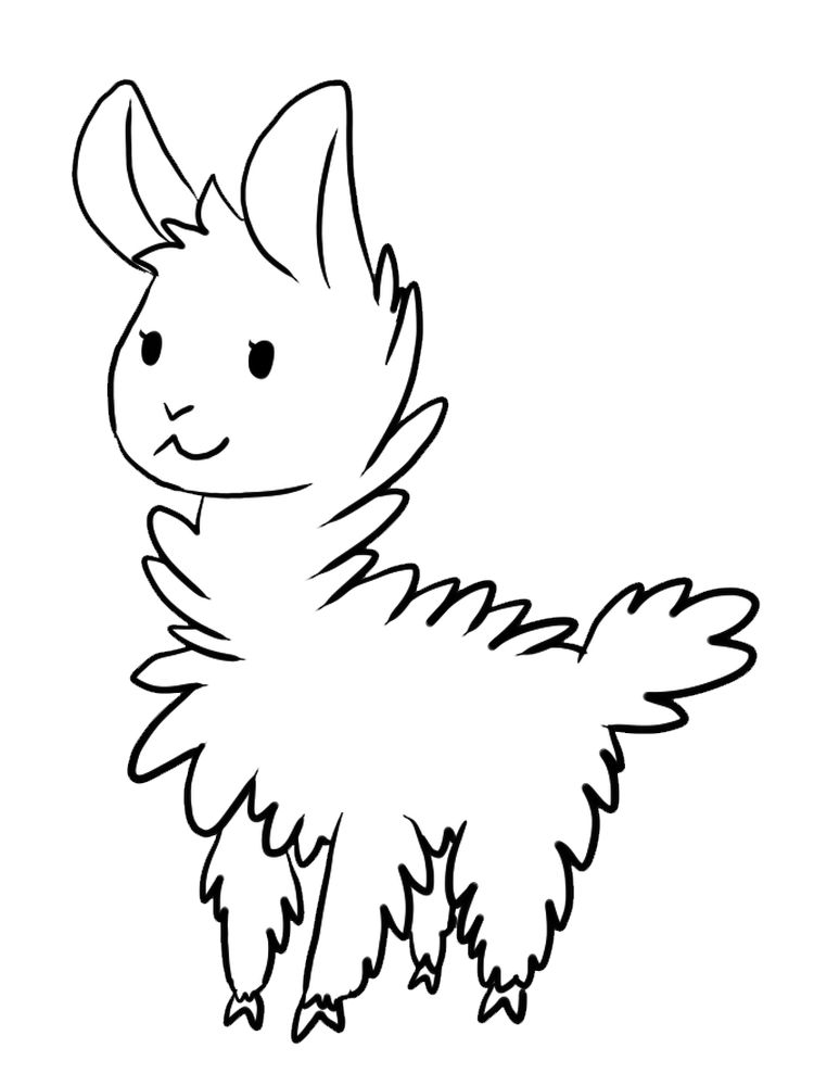 Printable Llama Coloring Pages For Adults