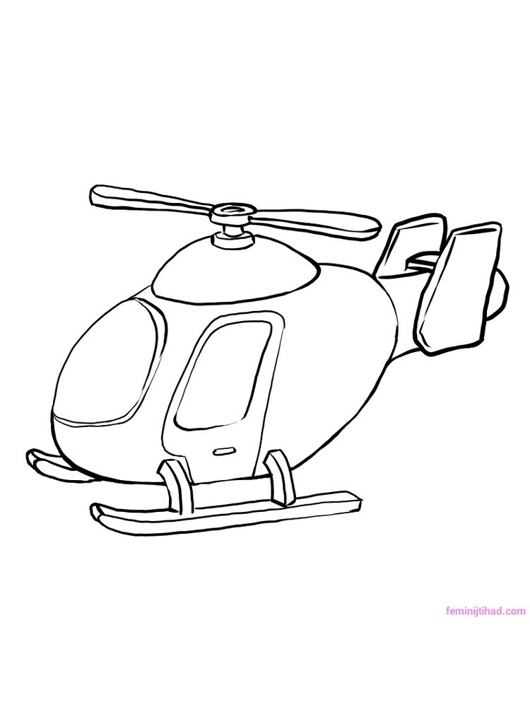 Printable Military Helicopter Coloring Pages