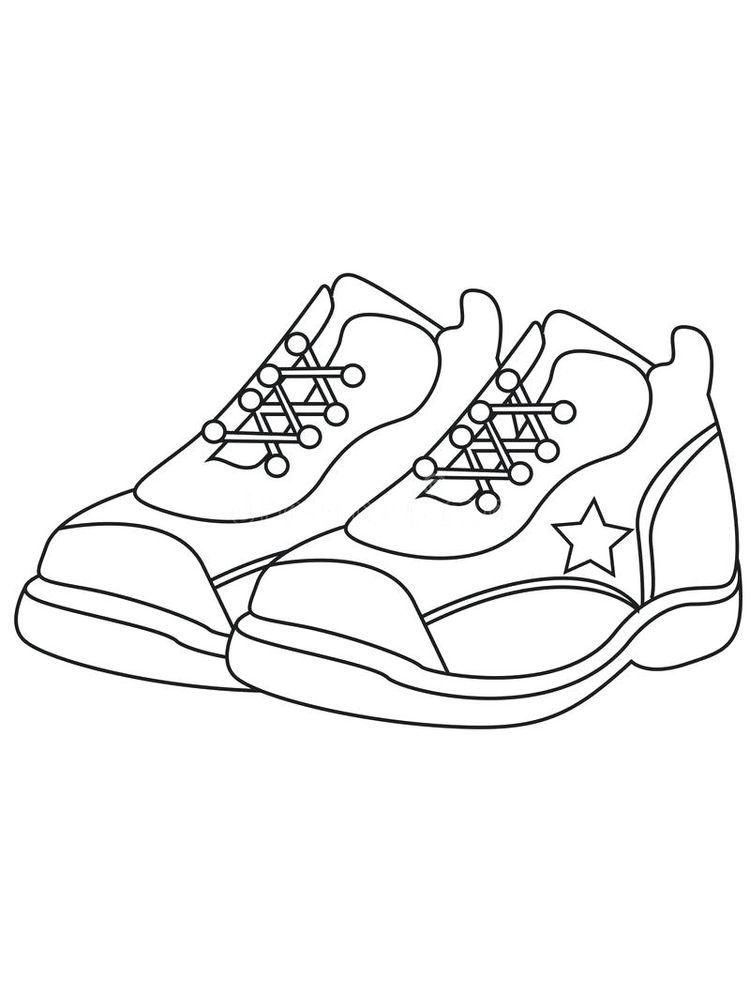 Printable Nike Shoes Coloring Pages