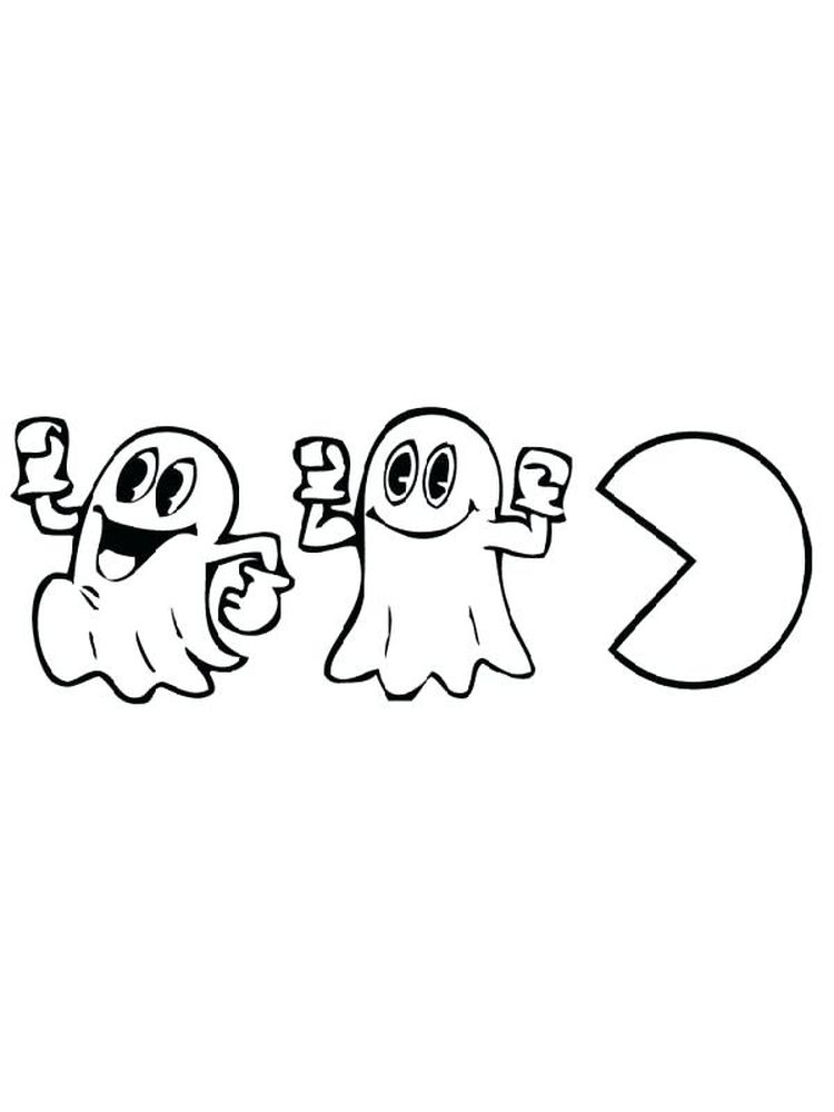 Printable Pac Man Colouring Pages