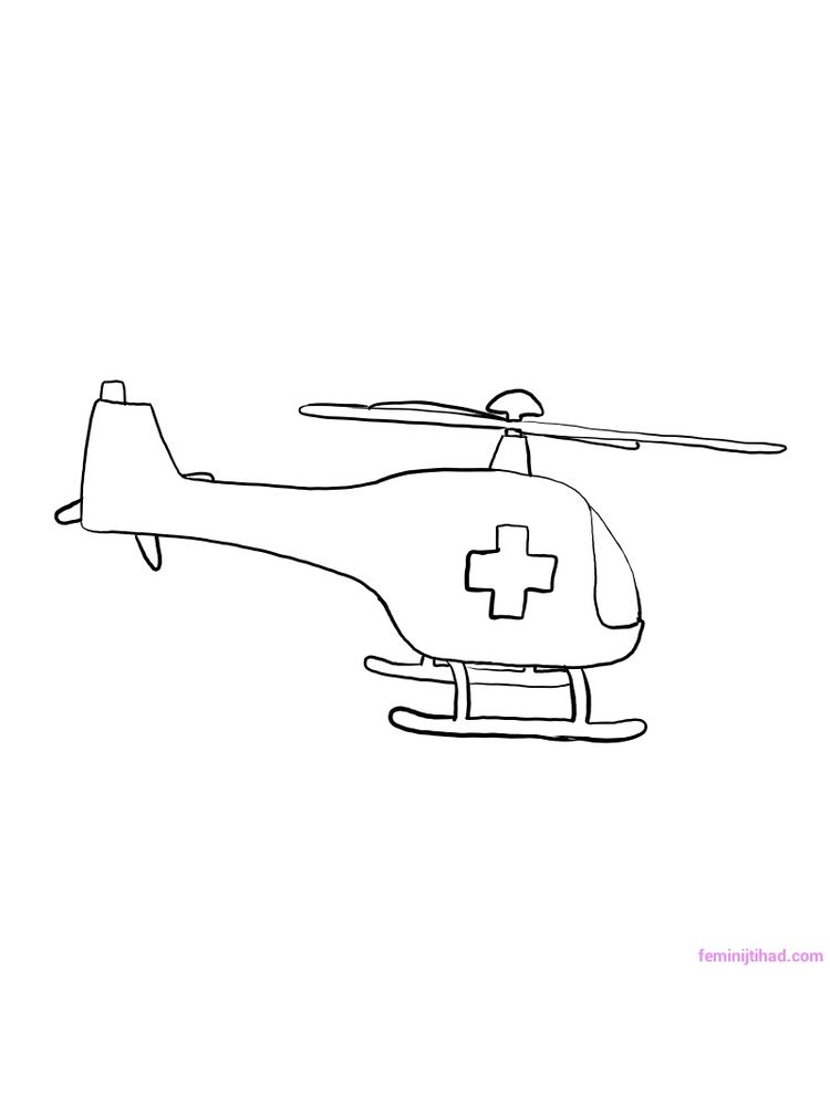Printable Police Helicopter Coloring Pages