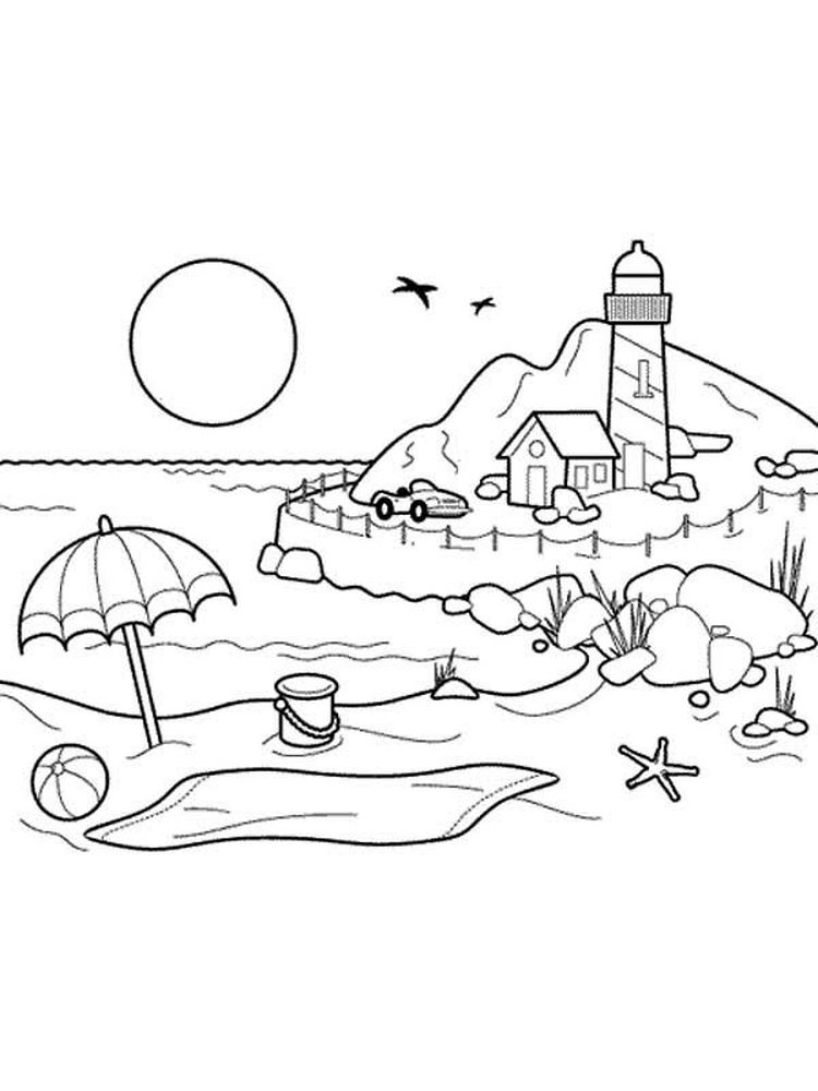 Printable Realistic Lighthouse Coloring Pages