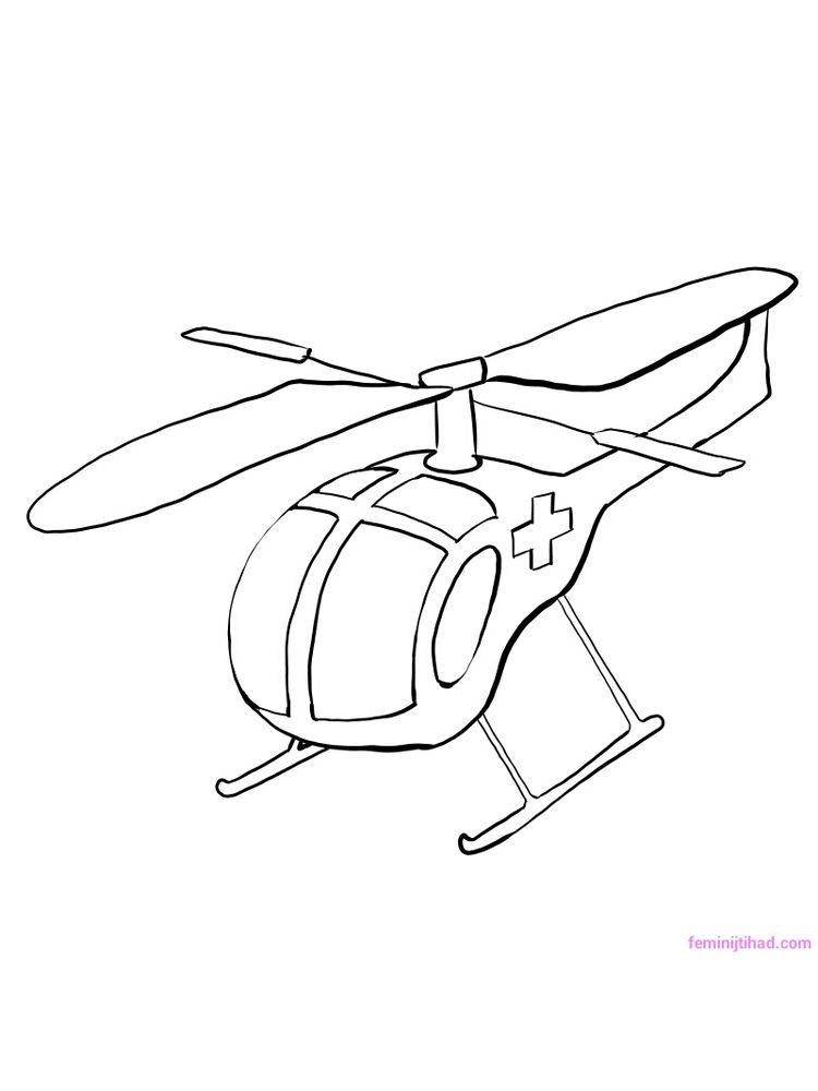 Printable Rescue Helicopter Coloring Pages