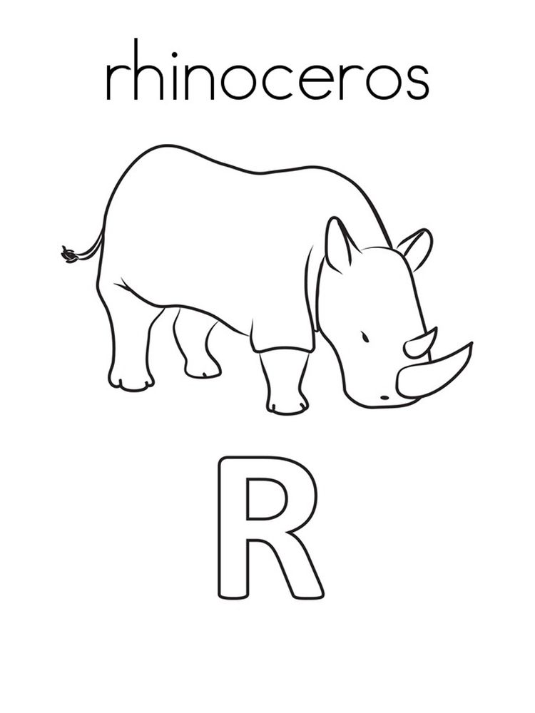 Printable Rhino Coloring Page