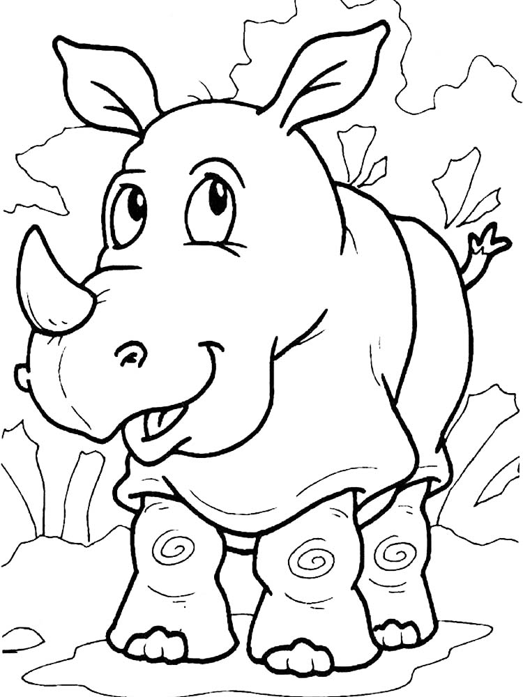 Printable Rhinoceros Coloring Page