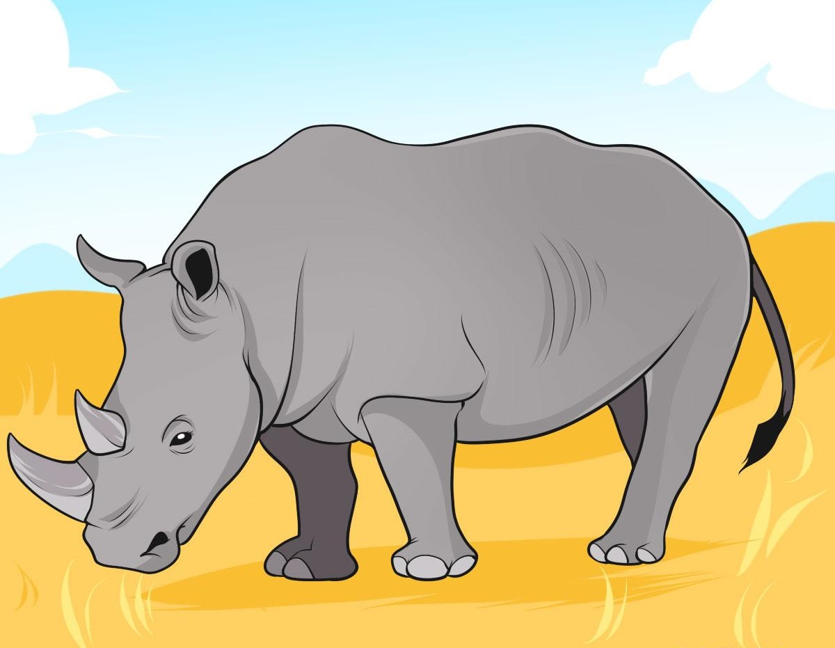 Printable Rhinoceros Coloring