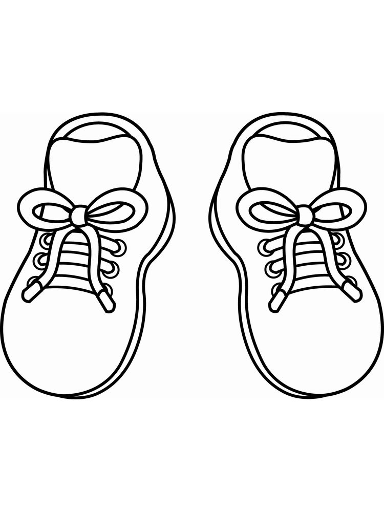 Printable Shoes Coloring Pages For Adults