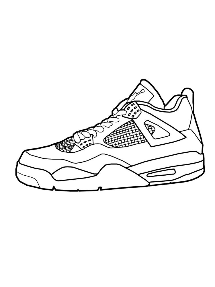 Printable Shoes Coloring Pages Free