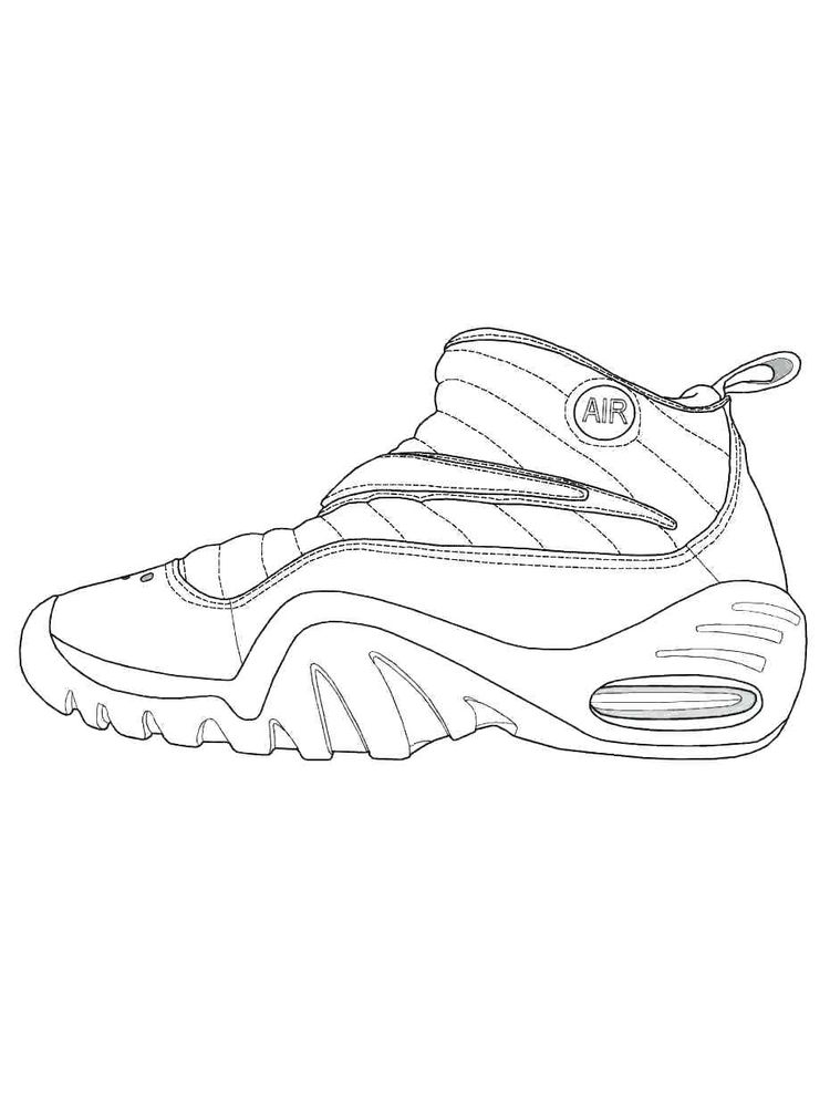 Printable Shoes Coloring Pages Jordans