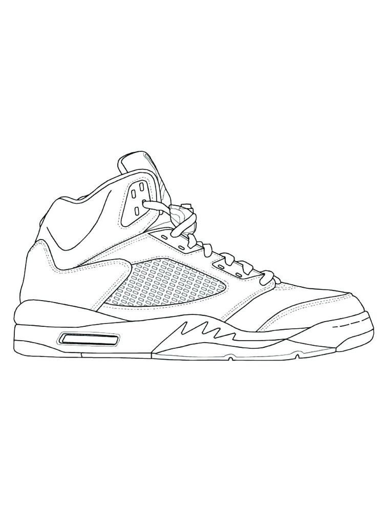 Printable Shoes Coloring Pages Pdf