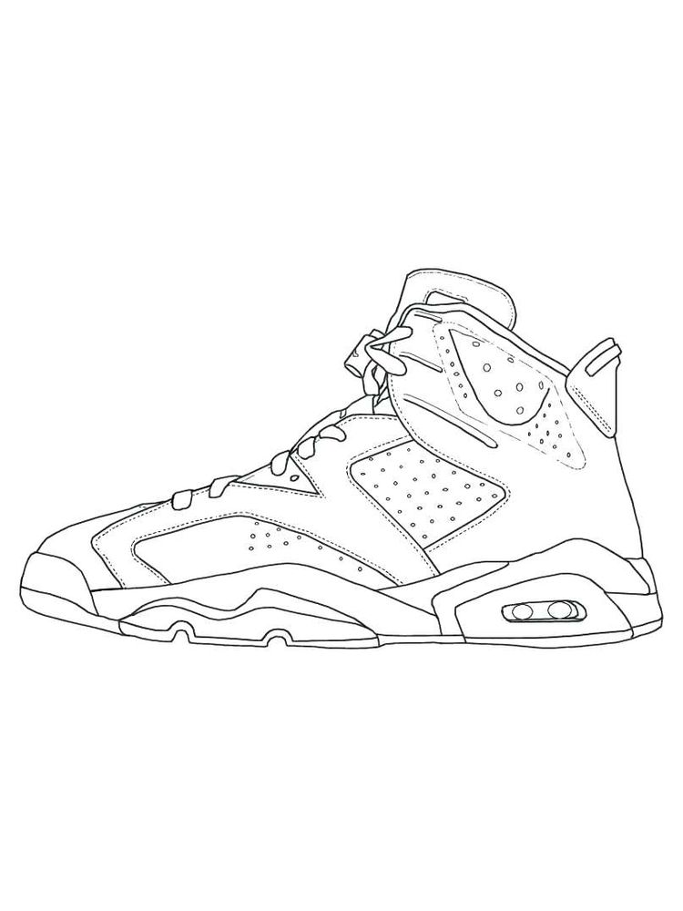 Printable Shoes Coloring Pages Printable