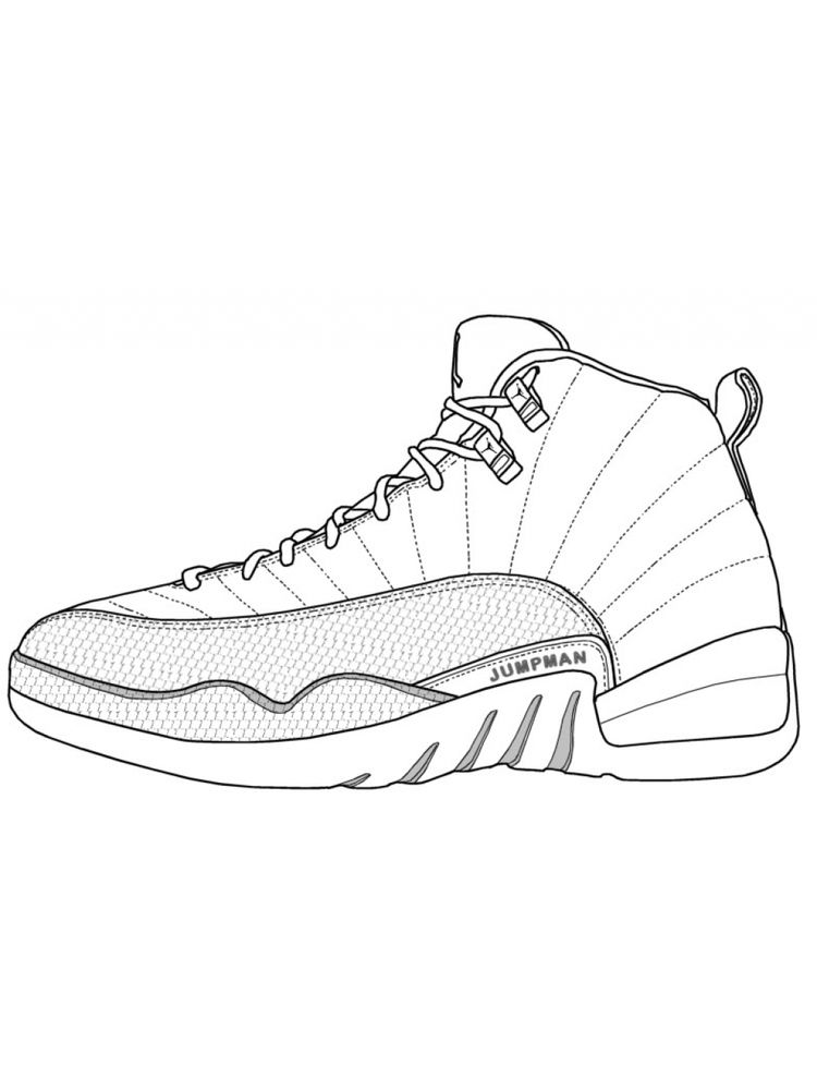 Printable Shoes Coloring Pages