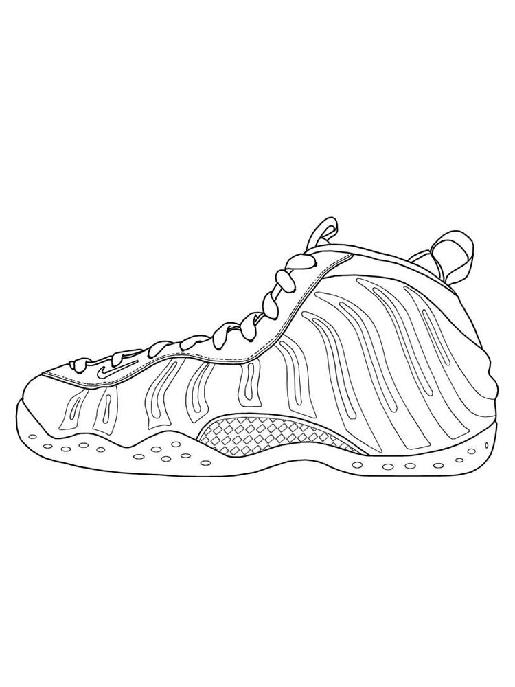 Printable Shoes Colouring Page
