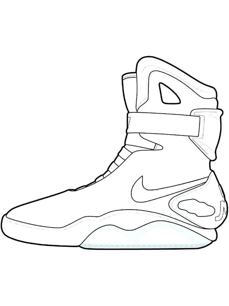 Printable Shoes Colouring Pages Free