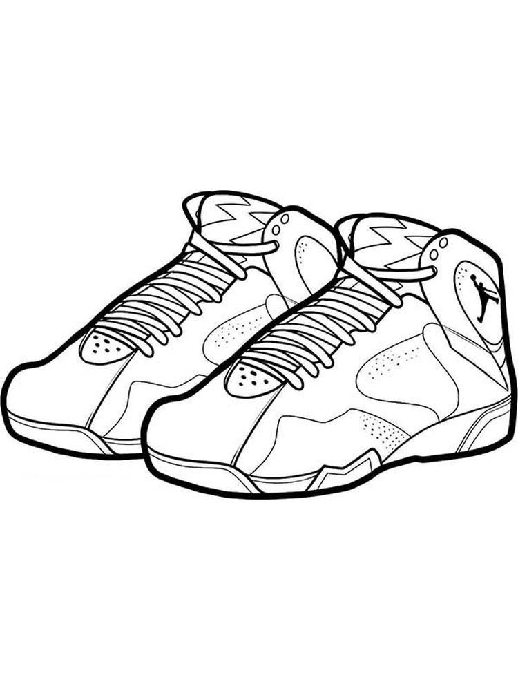 Printable Shoes Colouring Pages