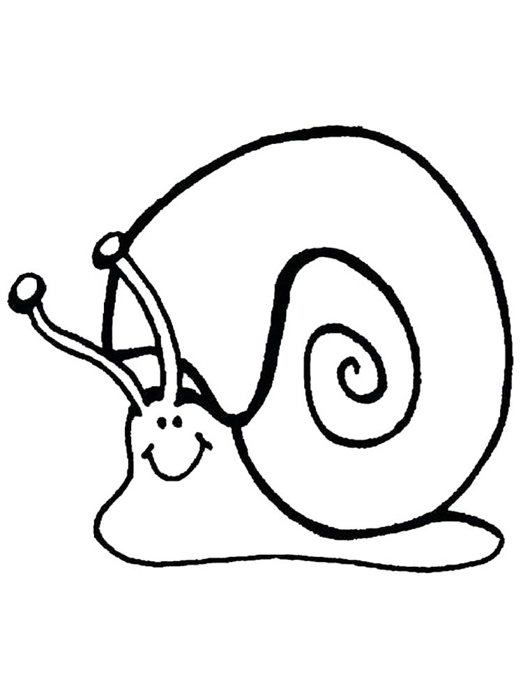 Printable Snail Body Coloring Page