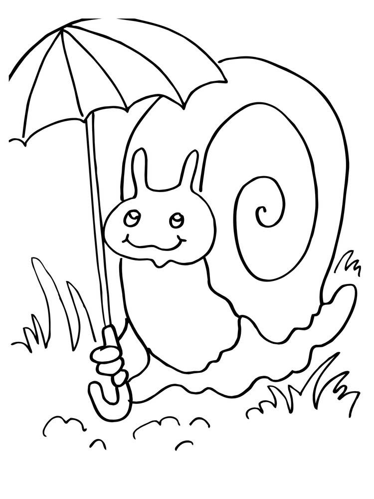 Printable Snail Coloring Pages Preschool