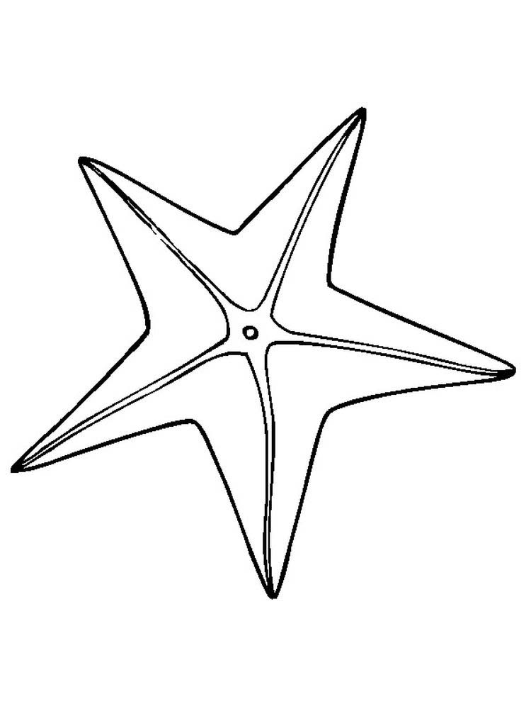 Printable Starfish Coloring Pages To Print