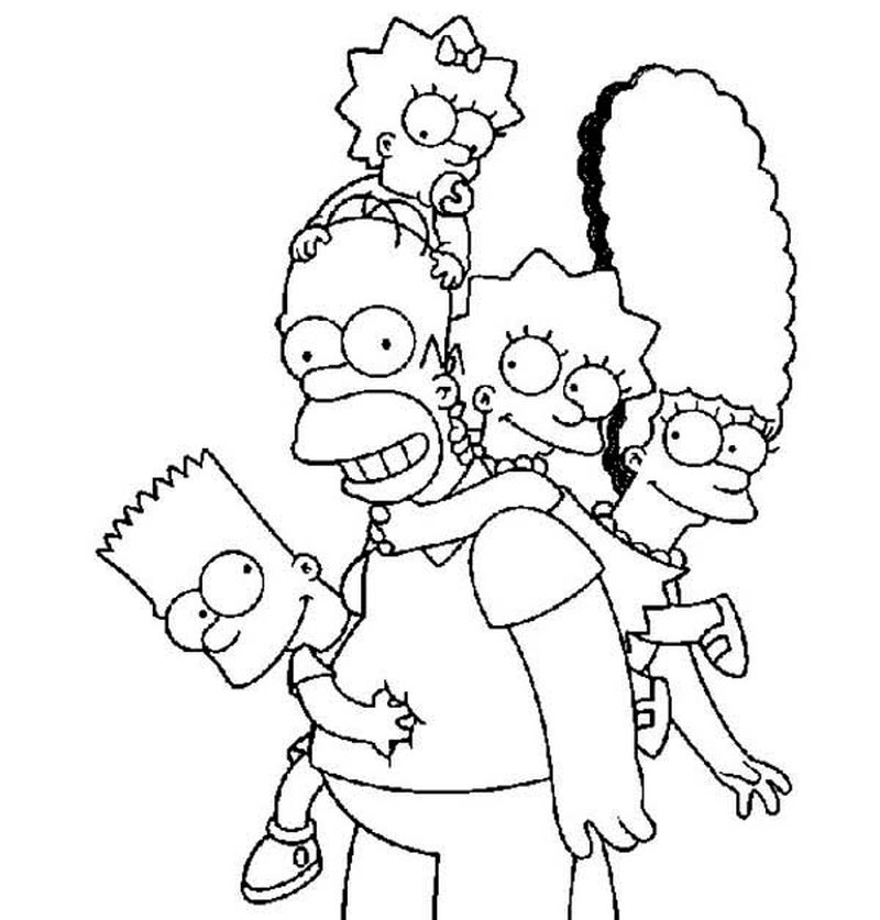 Printable The Simpson coloring pages family