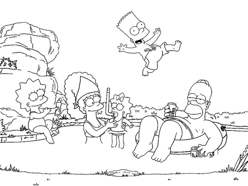 Printable The Simpson coloring pages free