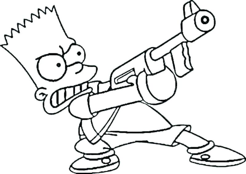 Printable The Simpson coloring pages ok