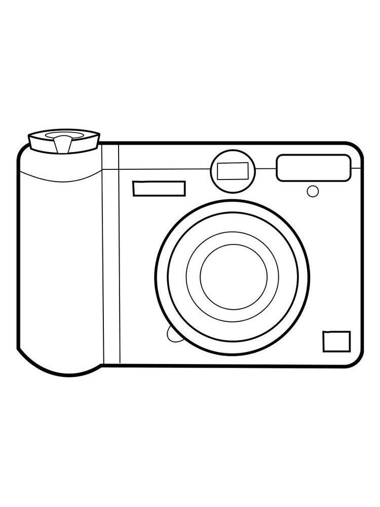 Printable camera coloring pages easy