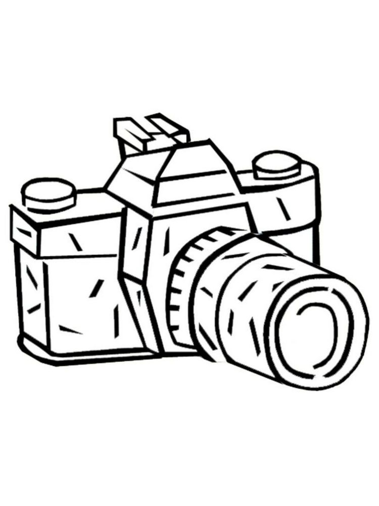 Printable camera coloring pages printable