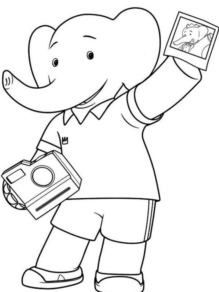 Printable camera colouring in pages