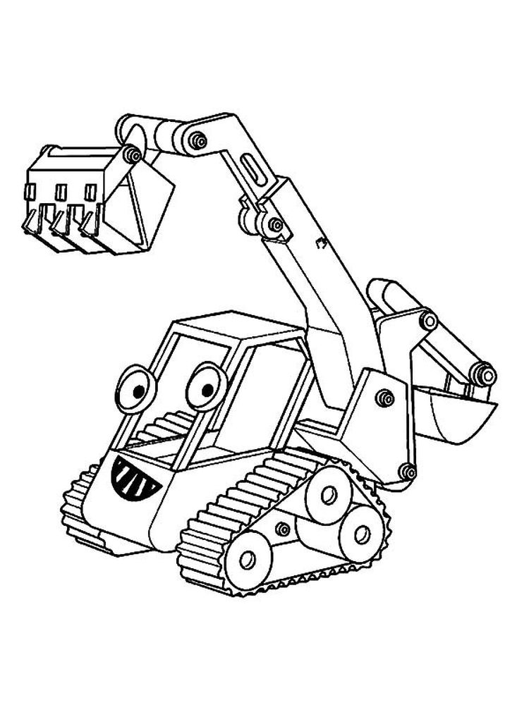 Printable excavator coloring pages pdf