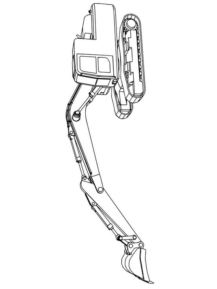 Printable excavator coloring pages pict