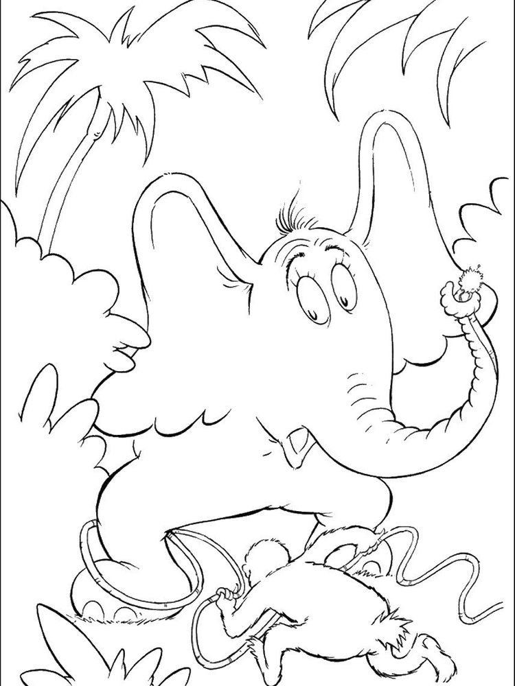 Printable horton hears a who coloring pages image