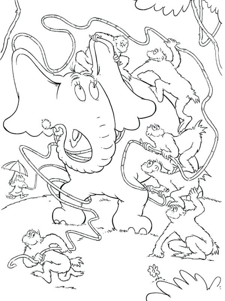 Printable horton hears a who coloring pages pdf