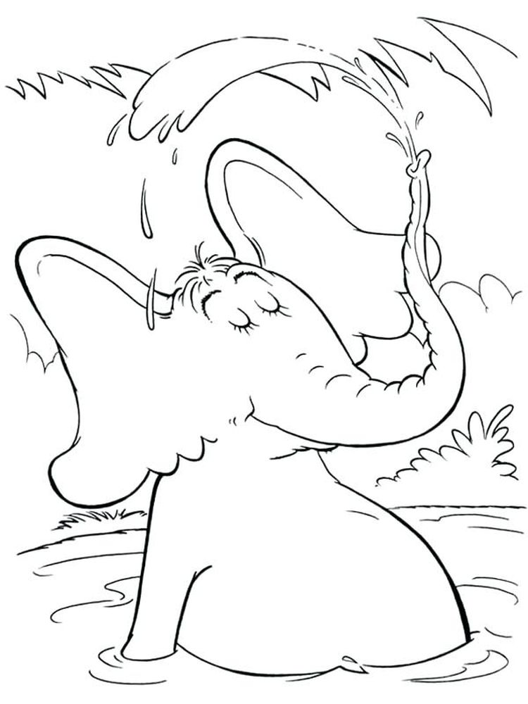 Printable horton hears a who coloring pages print
