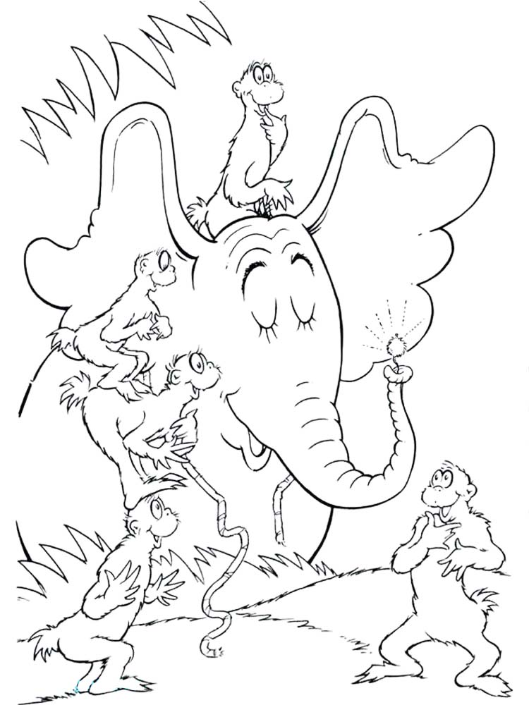Printable horton hears a who coloring pages printable